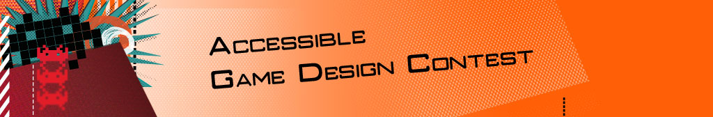 banner and logo of the accessible game design contest